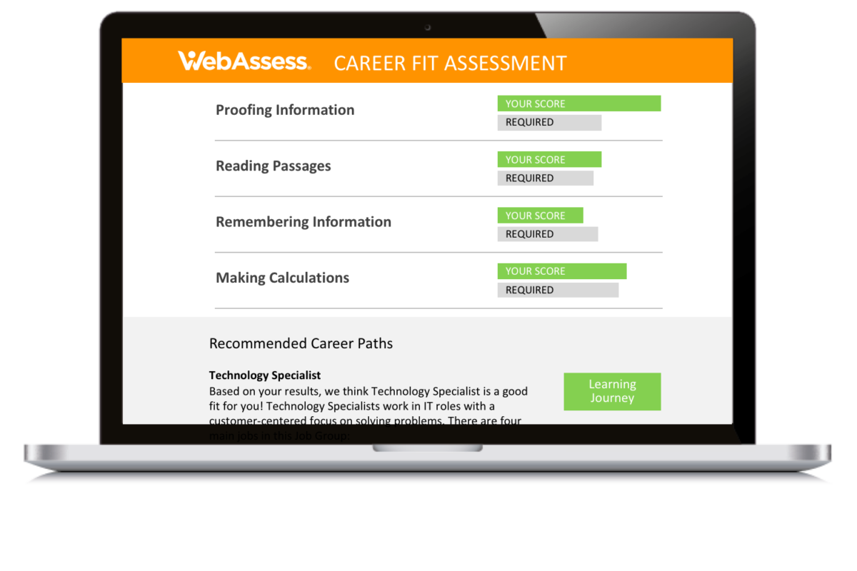 TryWebAssess  WebAssess WebAssess Career Fit l300