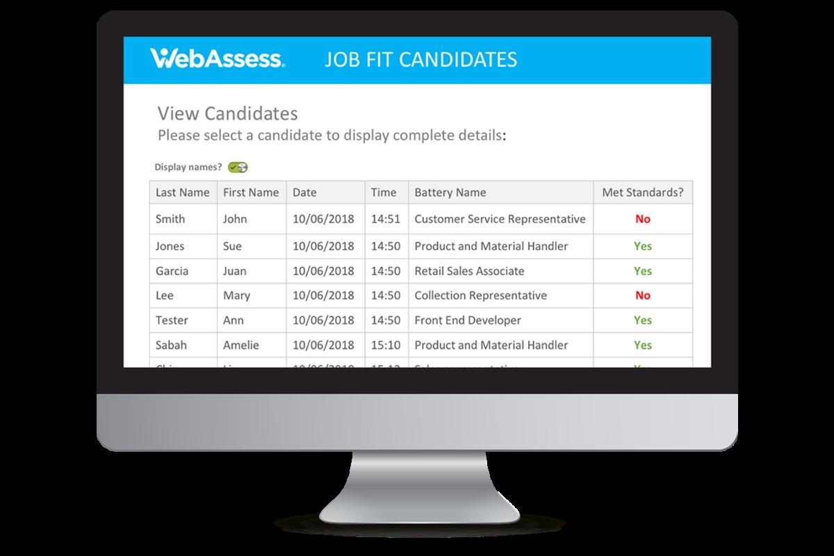 TryWebAssess  WebAssess WebAssess Job Fit l300