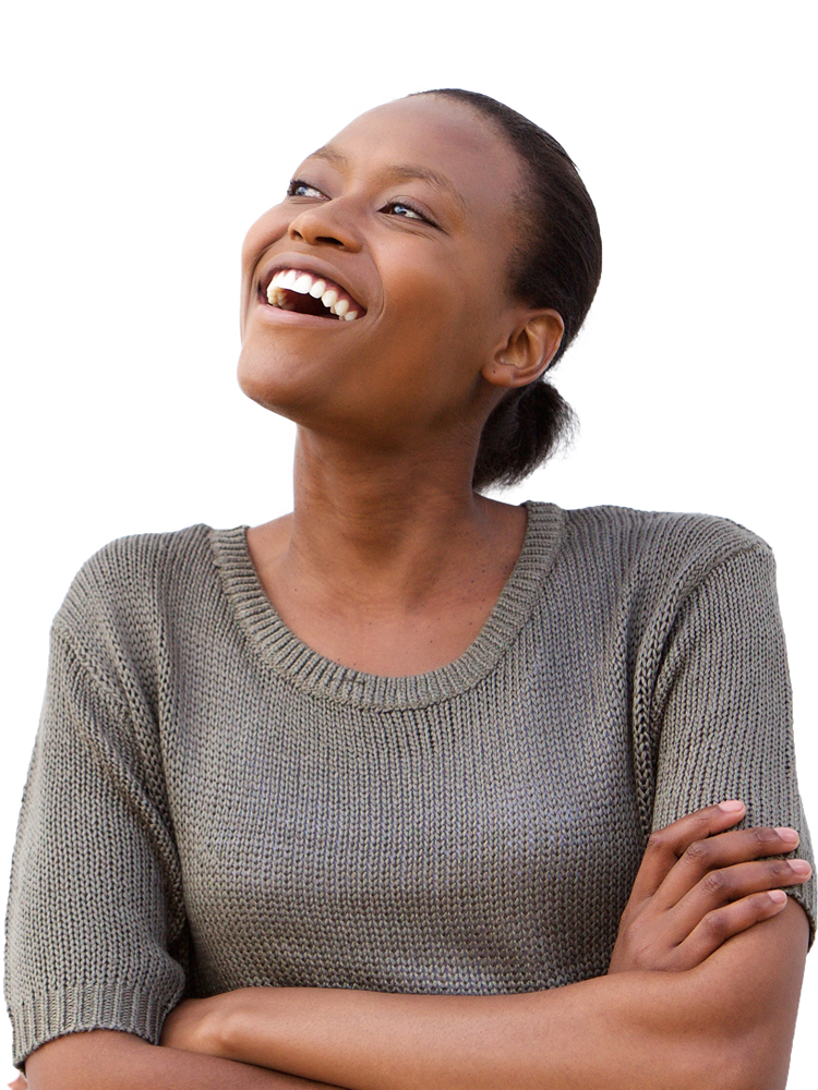 TryWebAssess  WebAssess laughing woman transparent Portrait Sm