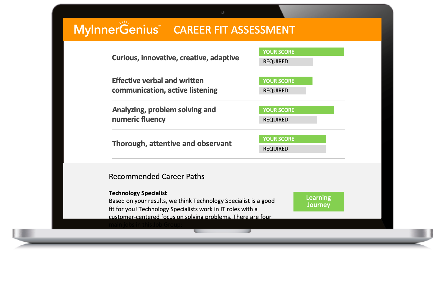 MyInnerGenius Career Fit Assessments